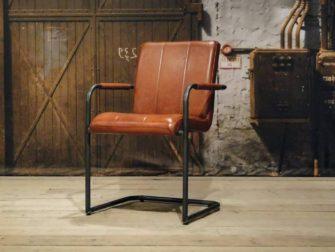 Leren stoel cenon vertical in 6 kleuren robuustetafels.nl