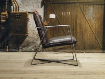 leren design fauteuil santino grijs