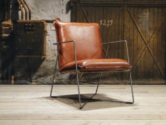 leren design fauteuil santino light brown
