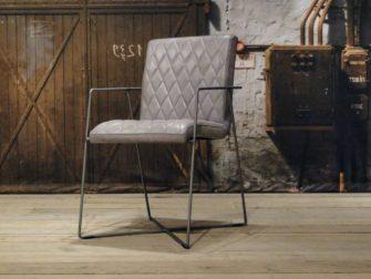 Eetkamerstoel Santino ruit - vintage grey