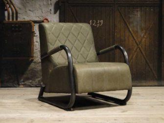 leren groene fauteuil