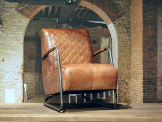 Fauteuil Cambrai vertical - buffel leer light brown