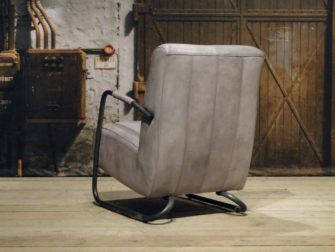 Fauteuil Cambrai vertical - buffel leer vintage grey