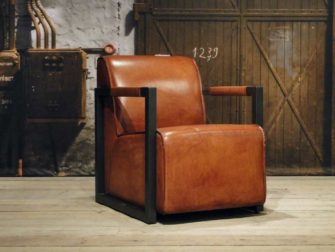 Fauteuil Hodor straight - light brown