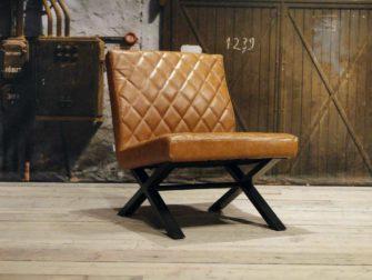 leren fauteuil Muret - cognac