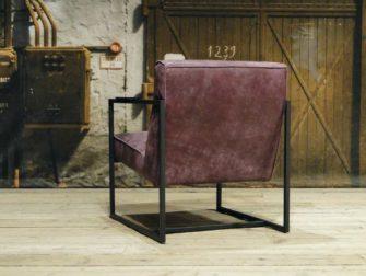 leren fauteuil pesara paars