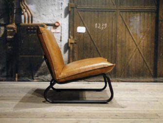 Leren fauteuil Cognac