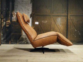 leren relax fauteuil cognac