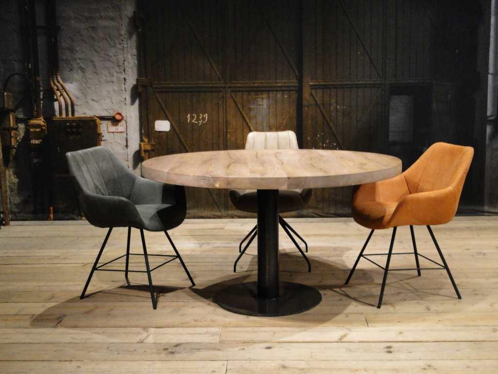 Ronde eettafel trappes ook vierkant verkrijgbaar robuustetafels