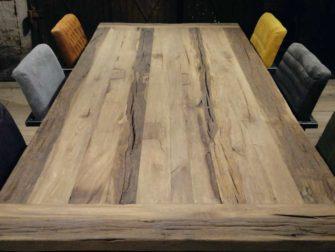 oud eiken industriele tafel
