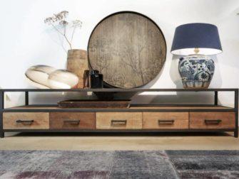 industrieel tv meubel 220cm