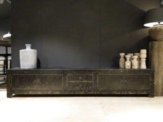 zwart tv meubel